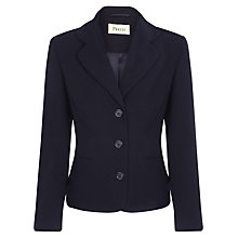 Buy Precis Petite Textured Jacket, Navy Online at johnlewis.com