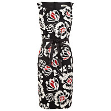 Buy Precis Petite Floral Sateen Dress, Black Online at johnlewis.com