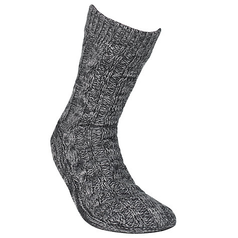 Buy John Lewis Slipper Socks, Charcoal Online at johnlewis.com