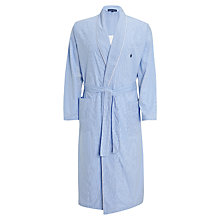 Buy Polo Ralph Lauren Gingham Cotton Bath Robe Online at johnlewis.com