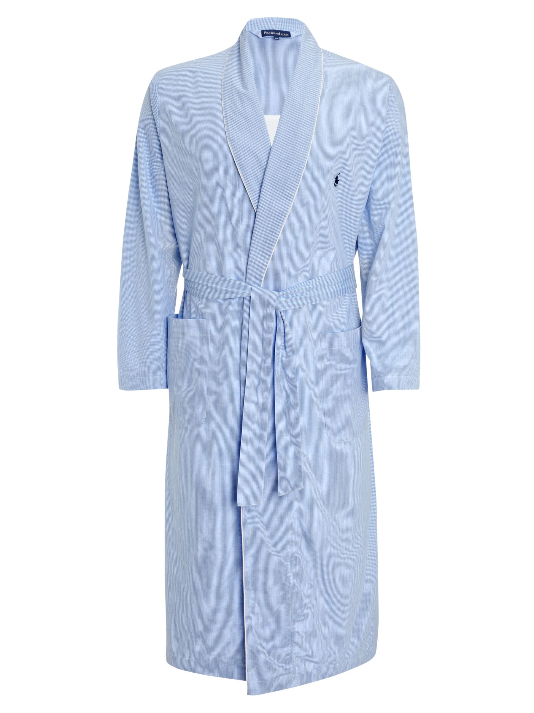 Polo Ralph Lauren Gingham Cotton Bath Robe