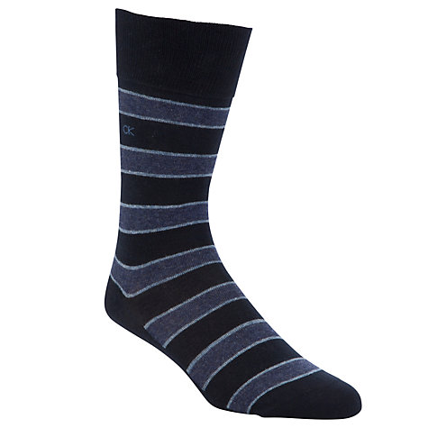 Buy Calvin Klein Stripe Socks, Pack of 2 Online at johnlewis.com