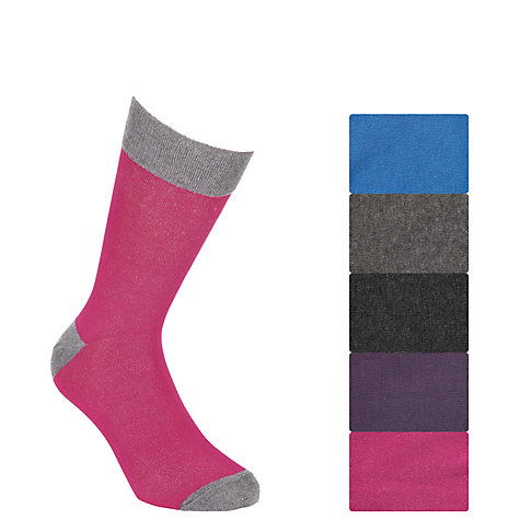 Buy John Lewis Bright Heel and Toe Socks, Pack Of 5, Multi Online at johnlewis.com