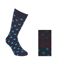 Buy John Lewis Bold Spot Socks, Pack of 3 Online at johnlewis.com