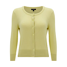 Buy Hobbs Middleton Cardigan, Lemon Flo Online at johnlewis.com