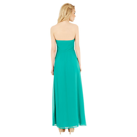 Buy Oasis Embroidered Bandeau Prom Dress, Pale Green Online at johnlewis.com