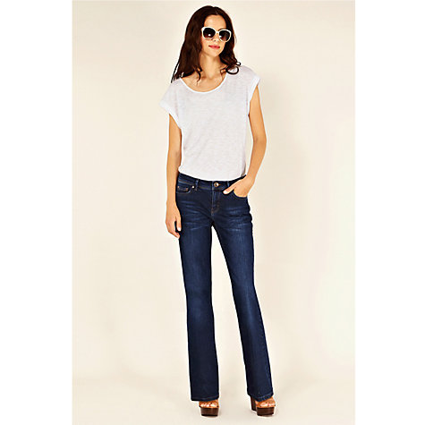 Buy Oasis Scarlet Mid Wash Jeans, Denim Online at johnlewis.com