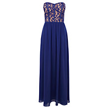 Buy Oasis Laced Bodice Prom Dress, Rich Blue Online at johnlewis.com