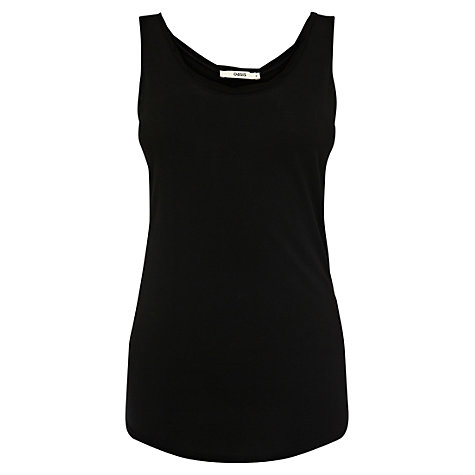 Buy Oasis Twist Detail Vest, Black Online at johnlewis.com