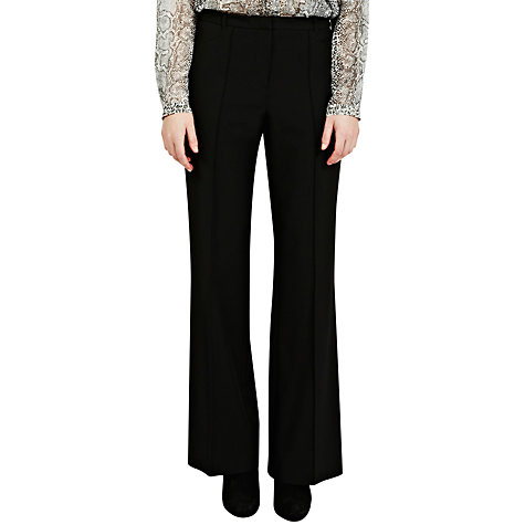 Buy Oasis Celeste Wide Leg Trousers, Black Online at johnlewis.com