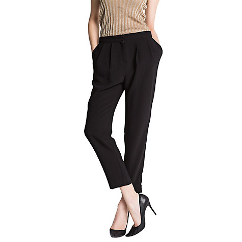 Buy Mango Pleated Tapered Trousers Online at johnlewis.com