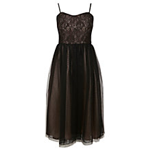 Buy Oasis Lace Prom Dress, Black Online at johnlewis.com