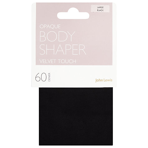 Buy John Lewis 60 Denier Velvet Touch Body Shaper Tights, Black Online at johnlewis.com