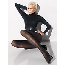 Buy Wolford Alina Open Work Tights, Black Online at johnlewis.com