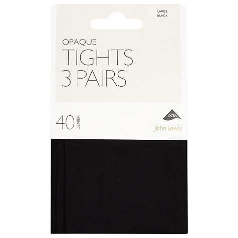 Buy John Lewis 40 Opaque Denier Tights, Pack Of 3 Online at johnlewis.com