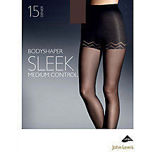 Buy John Lewis 15 Denier Sleek Body Shaper Tights, Sable Online at johnlewis.com