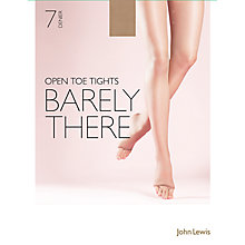 Buy John Lewis 7 Denier Barely There Open Toe Tights, Pack of 1 Online at johnlewis.com