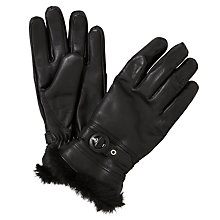 Buy John Lewis Faux Fur Trim Leather Gloves Online at johnlewis.com