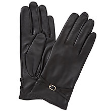 Buy John Lewis Touch Screen Wool & Leather Buckle Gloves Online at johnlewis.com