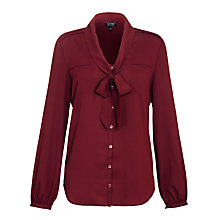 Buy Armani Jeans Tie Front Blouse, Bordeaux Online at johnlewis.com