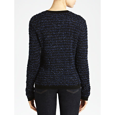 Buy Armani Jeans Bouclé Button Cardigan, Navy/Black Online at johnlewis.com