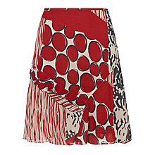 Buy Sandwich Mixed Abstract Cotton Skirt, Evening Sky Online at johnlewis.com