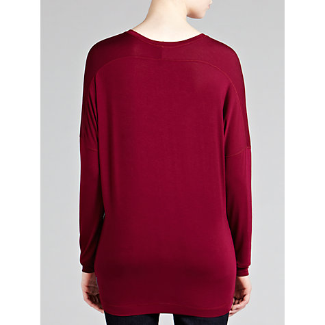 Buy Armani Jeans Sequin Logo Top, Bordeaux Online at johnlewis.com