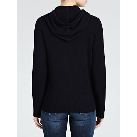 Buy Armani Jeans Cashmere Blend Zip Hooded Top, Navy Online at johnlewis.com