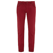 Buy Gant Washed Micro Herringbone Jeans, Cherry Red Online at johnlewis.com