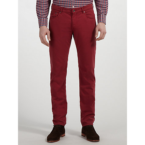 Buy Gant Washed Micro Herringbone Jeans Online at johnlewis.com