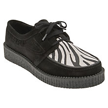 Buy Start-rite Creeper Lace Up Shoes, Animal Print/Black Online at johnlewis.com