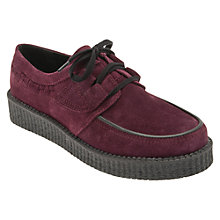 Buy Start-rite Creeper Lace Up Shoes, Dark Purple Online at johnlewis.com