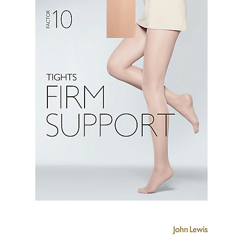 Buy John Lewis 40 Denier Firm Support Tights, Pack of 1, Pewter Online at johnlewis.com
