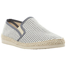 Buy Bertie Feather Printed Espadrilles, Grey Online at johnlewis.com