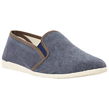 Buy Bertie Fawn Washed Canvas Slip On Shoes Online at johnlewis.com