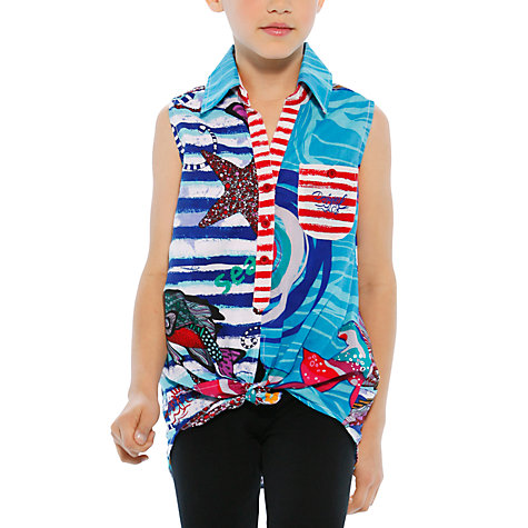 Buy Desigual Salsa Shirt, Blue Online at johnlewis.com
