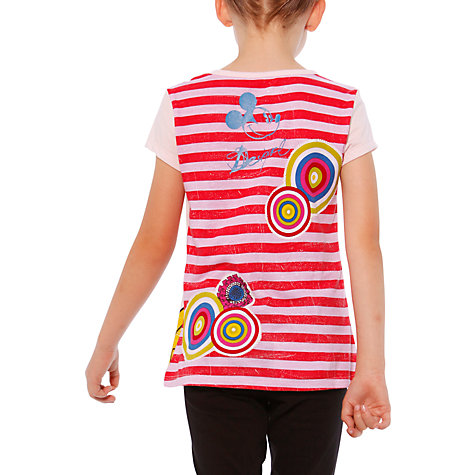 Buy Desigual Minnie Mouse Short Sleeve T-Shirt, Pink Online at johnlewis.com