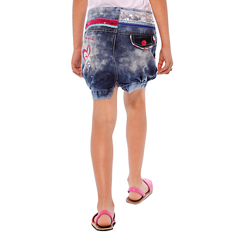 Buy Desigual Ter Acid Wash Skirt, Blue Online at johnlewis.com