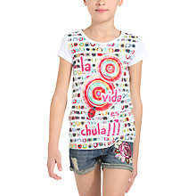 Buy Desigual Lavanda T-Shirt, White Online at johnlewis.com
