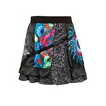 Buy Desigual Rin Rep Skirt, Black Online at johnlewis.com