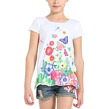 Buy Desigual Tom T-Shirt, White Online at johnlewis.com