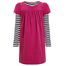 Buy John Lewis Girl Cord Pini Dress Set, Pink Online at johnlewis.com