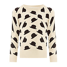 Buy John Lewis Girl Bowler Hat Jumper, Stone Online at johnlewis.com
