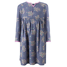 Buy John Lewis Girl Long Sleeve Twill Dress, Purple Online at johnlewis.com