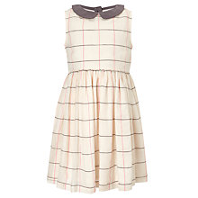 Buy John Lewis Girl Glitter Check Dress, Cream Online at johnlewis.com