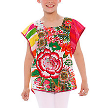 Buy Desigual Reggaie T-Shirt, Green/Pink Online at johnlewis.com
