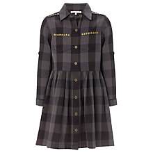 Buy John Lewis Girl Studded Shirt Dress, Grey Online at johnlewis.com