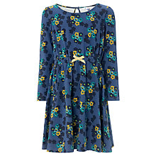 Buy John Lewis Girl Floral Jersey Dress, Blue Online at johnlewis.com
