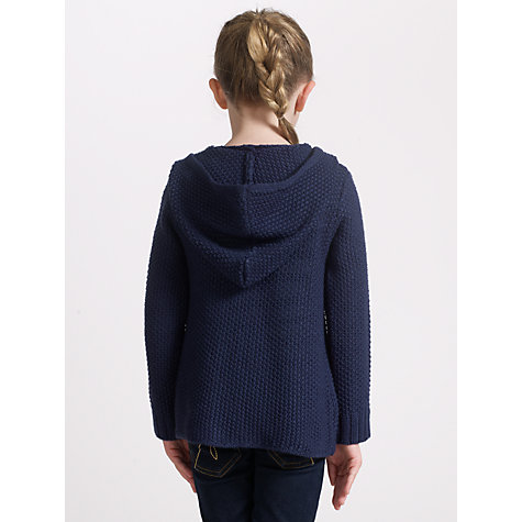 Buy John Lewis Girl Swing Cardigan, Navy Online at johnlewis.com