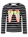 John Lewis Girl Shoes Long Sleeve Top, Navy